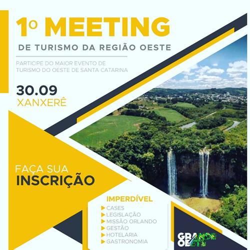1º Meeting de Turismo debate desenvolvimento do setor na região Oeste de Santa Catarina