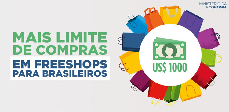 Limite de isenção para compras nos freeshops passa a ser de US$ 1.000