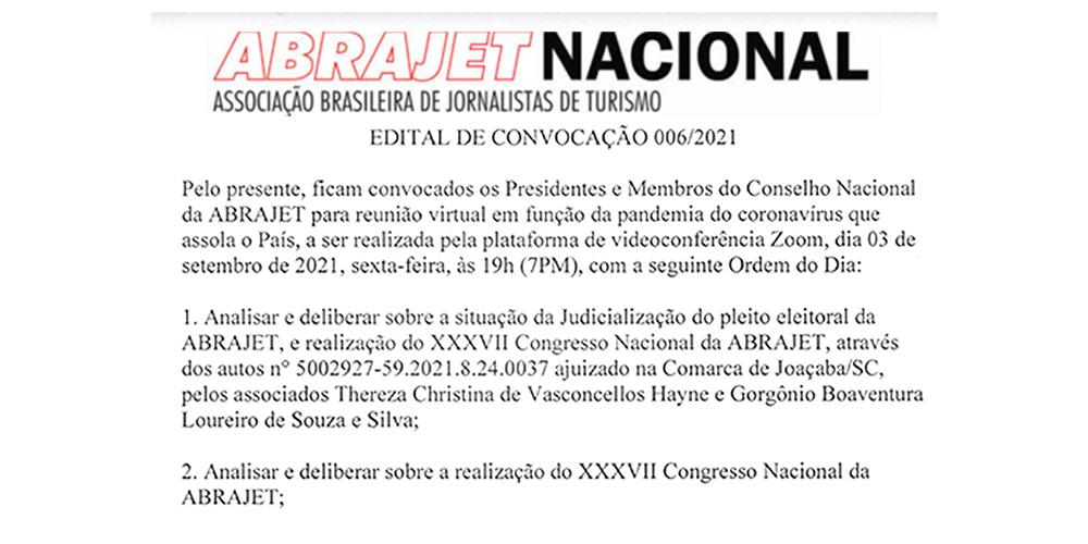 EDITAL DE CONVOCAÇÃO 006/2021